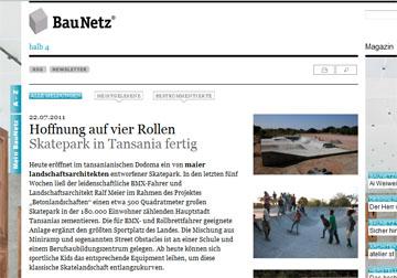 Bericht auf BauNetz.de Juli 2011