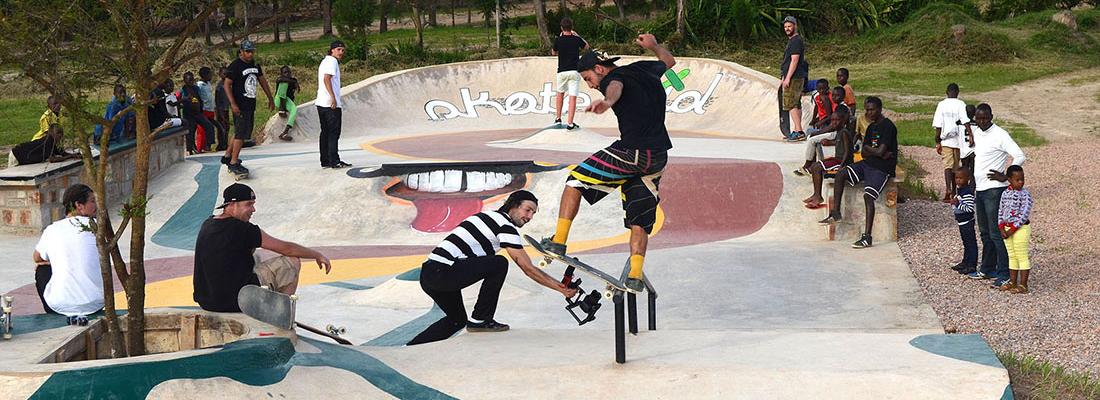 Betonlandschaften Slider Skatepark Ruanda