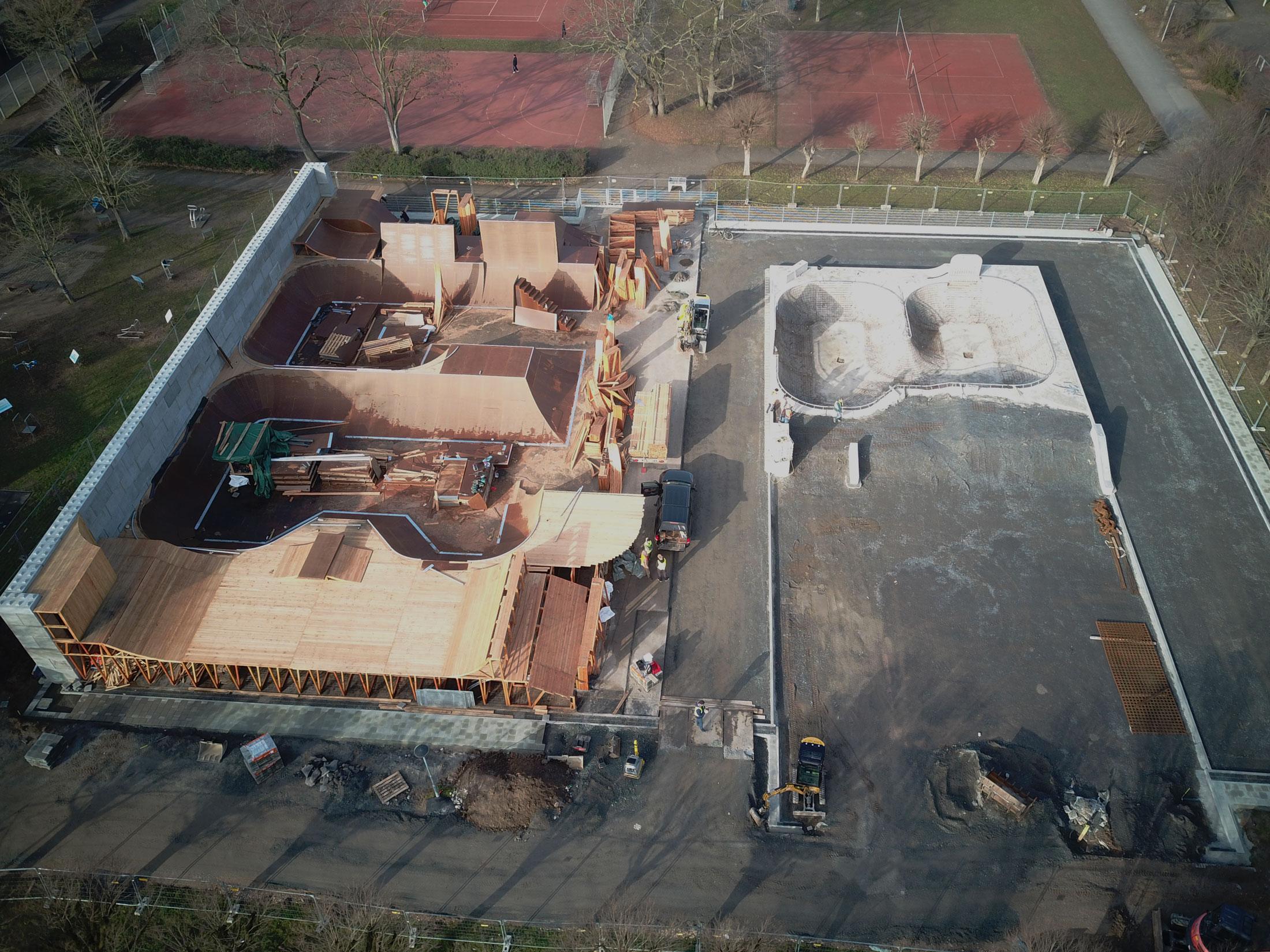 Baufortschritt BMX Anlage Darmstadt, 23.2.2021