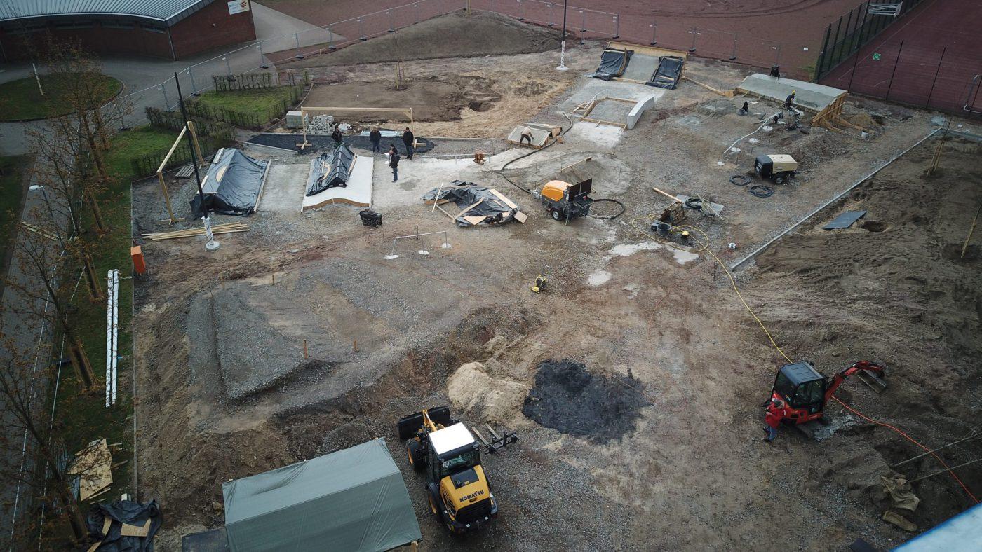Kevelaer Skatepark - Baufortschritt 14.04.2021