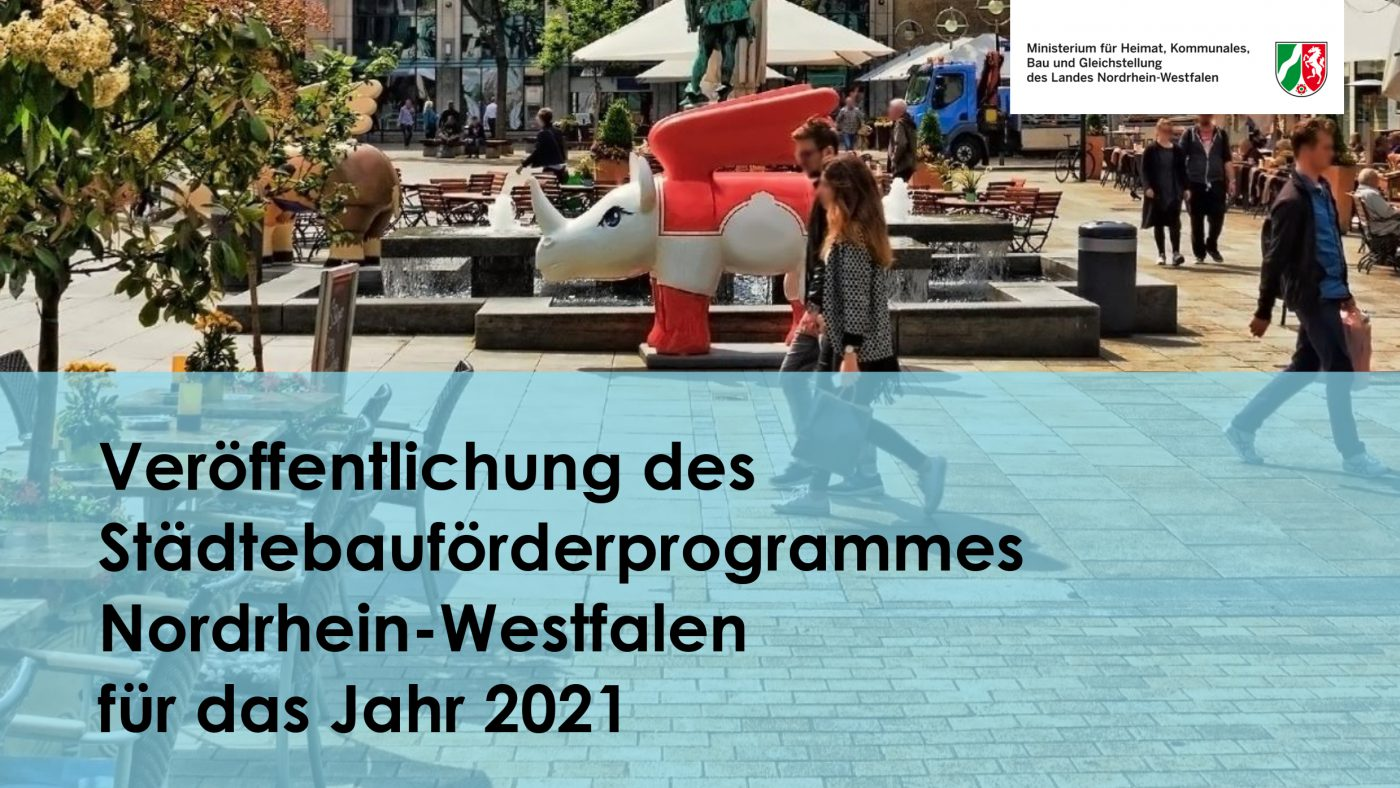 Maier Landschaftsarchitektur NRW Städtebauförderprogramm 2021 für Bönen, Much, Halle-Westfahlen