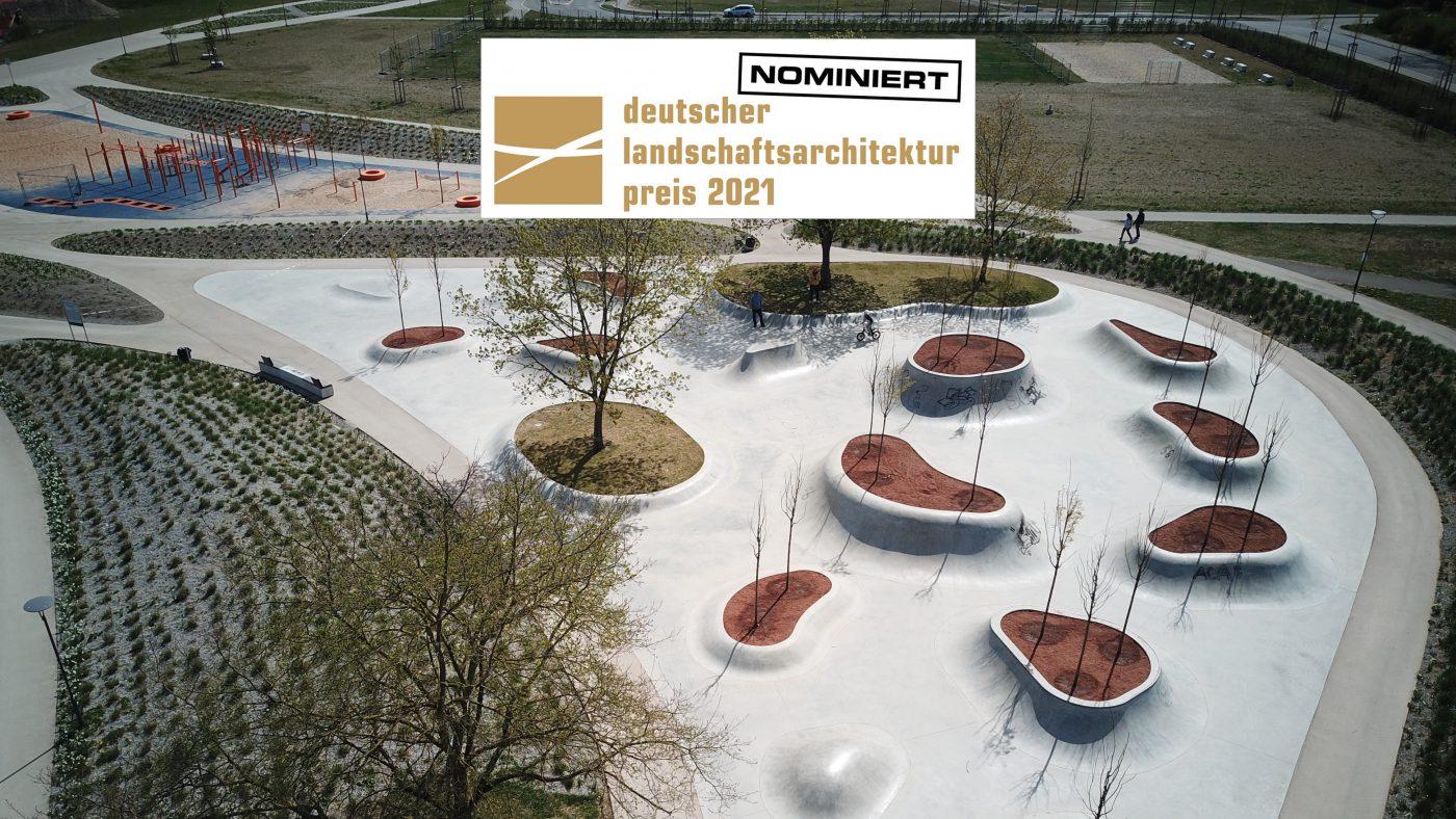 bdla-Preis Nominierung - Bewegungslandschaft Reesekaserne Augsburg