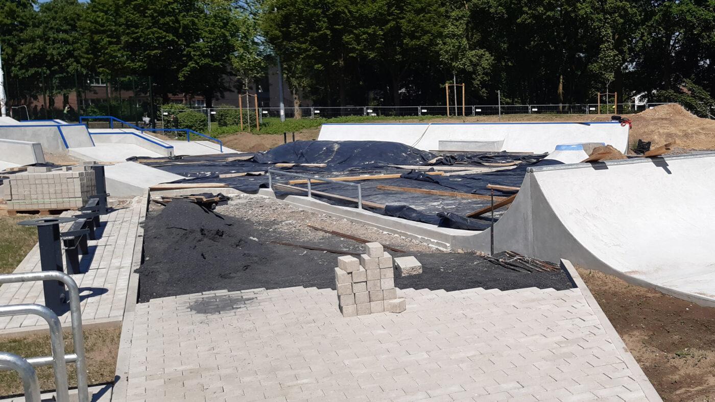 Kevelaer Skatepark Baufortschritt 210602