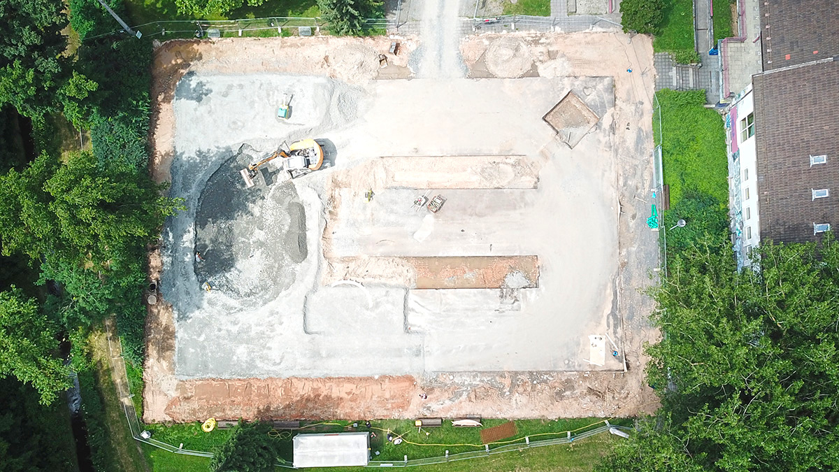 Weiden Skatepark - Baubeginn