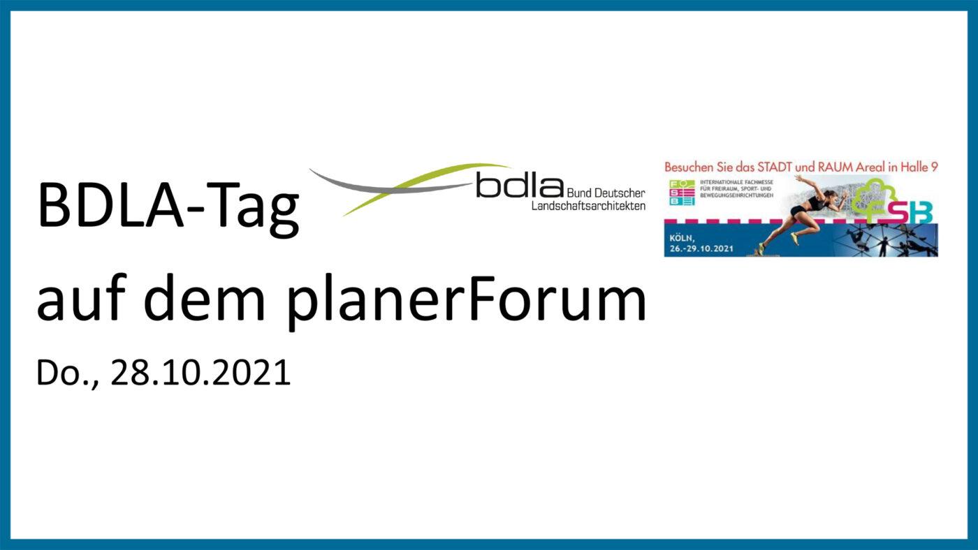 BDLA-Tag planer Forum am 211028